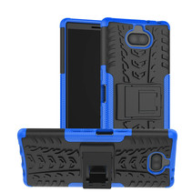 Sony Xperia 10 hoesje - Schokbestendige Back Cover - Blauw