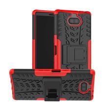 Sony Xperia 10 hoesje - Schokbestendige Back Cover - Rood
