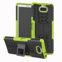 Sony Xperia 10 Plus hoesje - Schokbestendige Back Cover - Groen