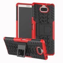 Sony Xperia 10 Plus hoesje - Schokbestendige Back Cover - Rood