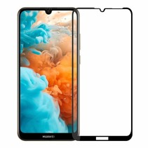 Huawei Y6 2019 - Full Cover Screenprotector - Gehard Glas - Zwart