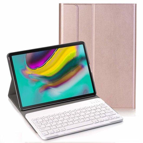 Case2go Samsung Galaxy Tab S5e - Bluetooth toetsenbord hoes - Rose-Gold
