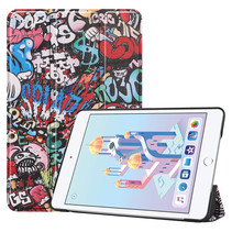 iPad Mini 2019 hoes - Tri-Fold Book Case - Graffiti