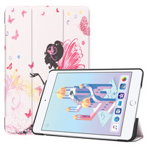 iPad Mini 2019 hoes - Tri-Fold Book Case - Flower Fairy