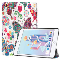 iPad Mini 2019 hoes - Tri-Fold Book Case - Vlinders
