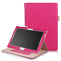 Lenovo Tab E10 / Tab 4 10 (Plus) hoes - Wallet Book Case - Magenta