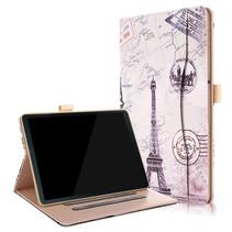 Samsung Galaxy Tab S4 hoes - Wallet Book Case - Eiffeltoren