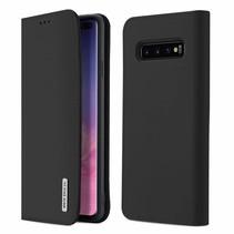 Samsung Galaxy S10 Plus hoes - Wish Series Lederen Book Case - Zwart