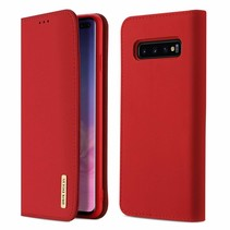 Samsung Galaxy S10 Plus hoesje - Dux Ducis Wish Wallet Book Case - Rood