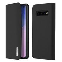 Samsung Galaxy S10 hoes - Wish Series Lederen Book Case - Zwart