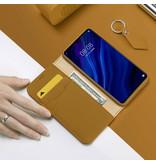 Dux Ducis Huawei P30 hoesje - Dux Ducis Wish Wallet Book Case - Bruin