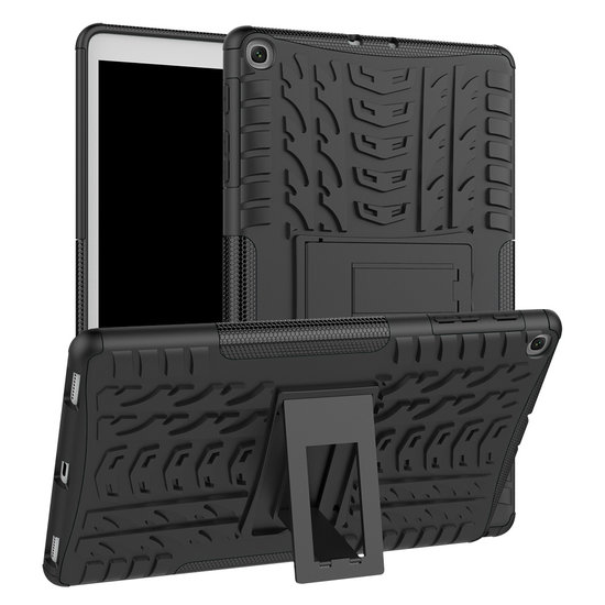 Case2go Samsung Galaxy Tab A 10.1 2019 - Schokbestendige Back Cover - Zwart