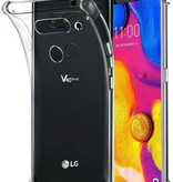 Atouchbo LG V40 hoes - Anti-Shock TPU Back Cover - Transparant