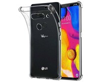 LG V40 hoes - Anti-Shock TPU Back Cover - Transparant