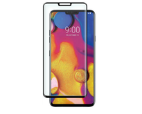 LG V40 ThinQ - Full Cover Screenprotector - Gehard Glas - Zwart