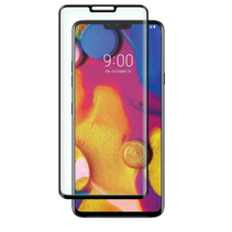 LG V40 ThinQ - Full Cover Screenprotector - Gehard Glas - Zwart