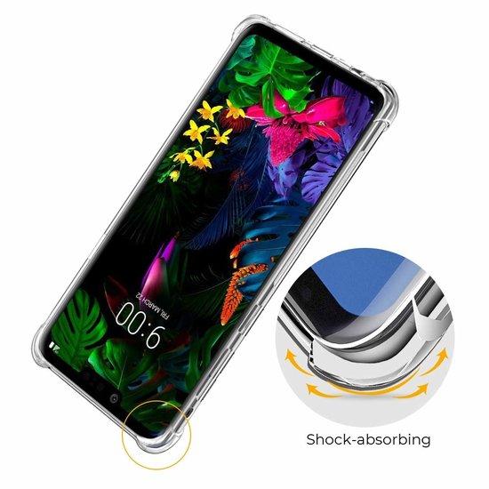 Atouchbo LG G8 hoes - Anti-Shock TPU Back Cover - Transparant
