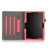 Case2go Lenovo Tab P10 hoes - Wallet Book Case - Rood