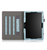 Case2go Lenovo Tab P10 hoes - Wallet Book Case - Turquoise
