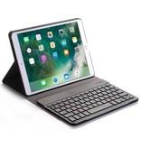 Case2go iPad Air 10.5 (2019) Case - Bluetooth Toetsenbord Hoes - Zwart