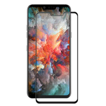 LG G8s ThinQ - Full Cover Screenprotector - Gehard Glas - Zwart