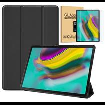 Samsung Galaxy Tab S5e hoesje - Tri-Fold Book Case + Screenprotector - Zwart