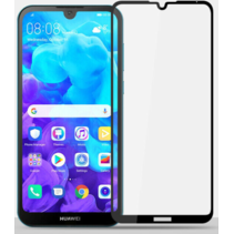 Huawei Y5 2019 - Full Cover Screenprotector - Gehard Glas - Zwart