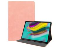 Samsung Galaxy Tab S5e hoes - PU Leer Folio Book Case - Roze