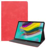 Case2go Samsung Galaxy Tab S5e hoes - PU Leer Folio Book Case - Rood