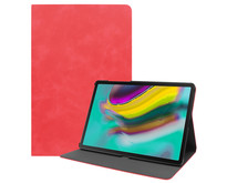 Samsung Galaxy Tab S5e hoes - PU Leer Folio Book Case - Rood
