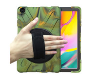 Samsung Galaxy Tab A 10.1 (2019) Cover - Hand Strap Armor Case - Camouflage
