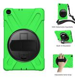 Case2go Samsung Galaxy Tab A 10.1 (2019) Cover - Hand Strap Armor Case - Groen