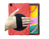 Samsung Galaxy Tab A 10.1 (2019) Cover - Hand Strap Armor Case - Rood