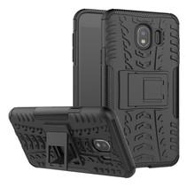 Samsung Galaxy J4 Plus hoesje - Schokbestendige Back Cover - Zwart
