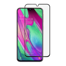 Samsung Galaxy A40 - Full Cover Screenprotector - Gehard Glas - Zwart