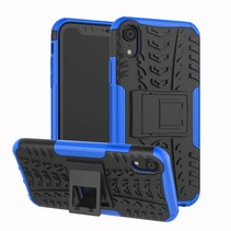 iPhone XR hoes - Schokbestendige Back Cover - Blauw