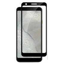 Google Pixel 3a XL - Full Cover Screenprotector - Gehard Glas - Zwart
