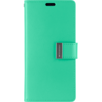 iPhone XR Wallet Case - Goospery Rich Diary - Turquoise