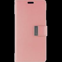 iPhone XR Wallet Case - Goospery Rich Diary - Roze