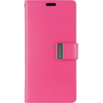 iPhone XR Wallet Case - Goospery Rich Diary - Magenta