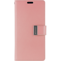 iPhone X/Xs Wallet Case - Goospery Rich Diary - Roze