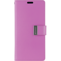 iPhone X/Xs Wallet Case - Goospery Rich Diary - Paars