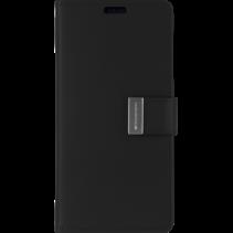 iPhone XS Max Wallet Case - Goospery Rich Diary - Zwart