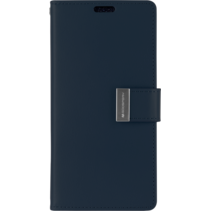iPhone XS Max Wallet Case - Goospery Rich Diary - Donker Blauw