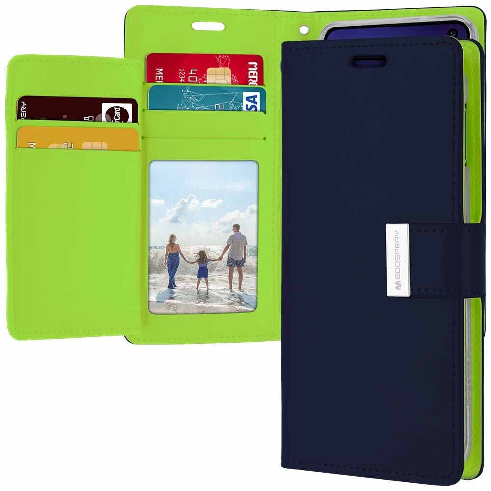 finest selection a4eec c6f24 iPhone XS Max Wallet Case - Goospery Rich Diary - Donker Blauw