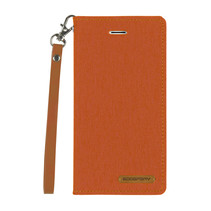 iPhone X/Xs hoes - Mercury Canvas Flip Wallet Case - Oranje
