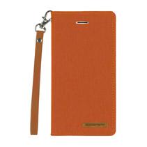 iPhone Xs Max hoes - Mercury Canvas Flip Wallet Case - Oranje