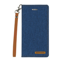 iPhone X/Xs hoes - Mercury Canvas Flip Wallet Case - Blauw