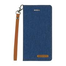 Samsung Galaxy A8 Plus (2018) hoes - Mercury Canvas Flip Wallet Case - Blauw