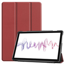 Huawei MediaPad M6 10.8 hoes - Tri-Fold Book Case - Donker Rood